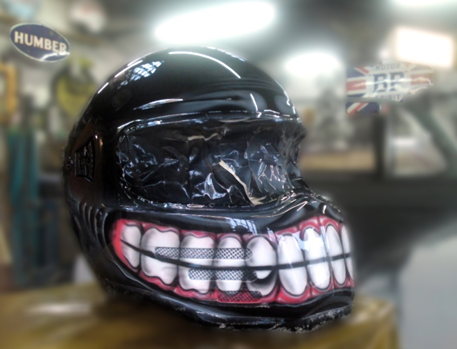 Custom Welding Helmets >> Rusted industrial with customers name in grafitti style.